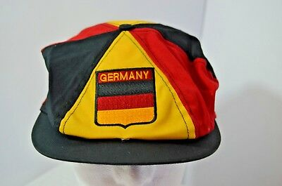 d4571648 VTG Germany Flag Black Red Yellow Snapback Newsboy Hat Cap Made in ...