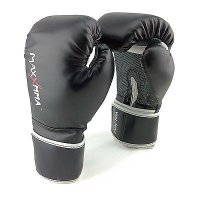 MaxxMMA Pro Style Boxing Gloves 12,14,16 oz - Boxing Punching MMA Training