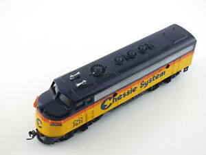 Bachmann-HO-C-amp-O-Chessie-System-F-Unit-Locomotive-KNUCKLES-from-dealer-stock-READ