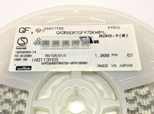 5 Stück 4700pF 250V SMD X7R Keramik-Vielschichtkondensator Murata M5637