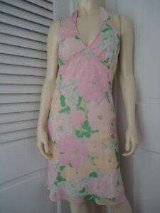 Free-People-Dress-4-Anthropologie-Halter-Lined-Floral-Print-Hippie-Boho