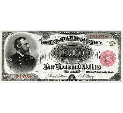 Reproduction Legal Tender Note UNC USA 500 Dollars 1878