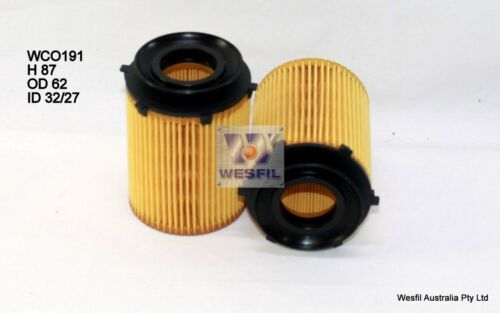 WESFIL OIL FILTER FOR Mercedes Benz B180 1.6L 2012 03//12-on WCO191