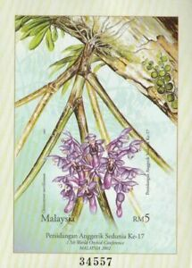 SJ-17th-World-Orchid-Conference-Malaysia-2002-Flower-Flora-ms-Imperf-MNH