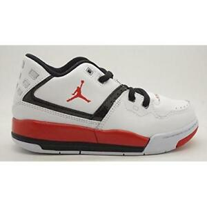 79b3c957bd8 JORDAN FLIGHT 23 TD 317823-116 TODDLER RETRO BRED BOYS WHITE BLACK ...