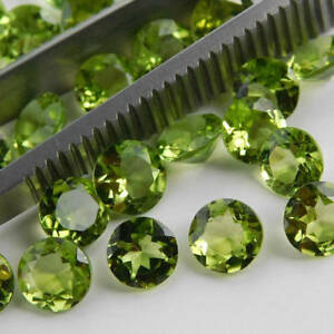 Wholesale-Lot-3x3mm-10x10mm-Round-Faceted-Cut-Natural-PERIDOT-Loose-Gemstones