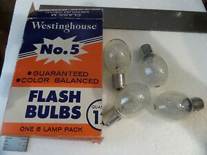 4 Westinghouse No 5 Flashbulbs 1 Sylvania P25