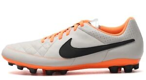 Nike Tiempo RIO II TF Total Biege/Black/Orange 631289-008 Size 10 US