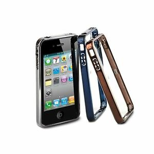 IWALK-CASE-FOR-IPHONE-4-4S-EASY-WEAR-BUMPER-FRAME-CLEAR-BACK-CRYSTL-METAL-UNS001