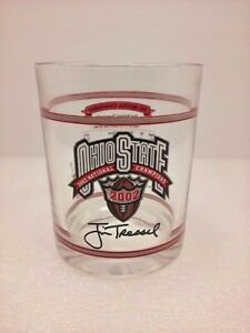 Ohio State Buckeyes 2002 Champs Rocks Drink Glass Rose Bowl 1942 Scores Football