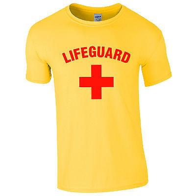 Da Uomo Bagnino Cross + T-shirt-costume Beach Party Top Giallo Nuovo S-2xl-mostra Il Titolo Originale Famoso Per Materie Prime Di Alta Qualità, Gamma Completa Di Specifiche E Dimensioni E Grande Varietà Di Design E Colori