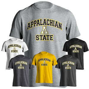 check out 06d75 430cd Details about Appalachian App State Mountaineers Arch Text Block A Logo  Short Sleeve T-Shirt