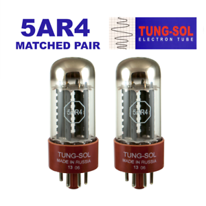 Tung-Sol 5AR4 / GZ34 New Production Rectifier Vacuum Tube Matched Pair