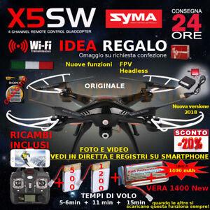 Rc Quadric.-drone Syma X5sw WiFi FPV 2 Batterie ( totale 3)