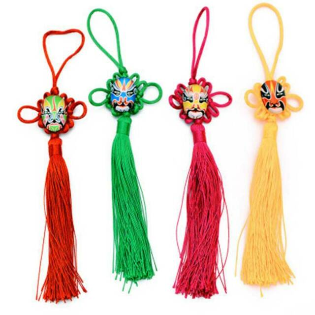Feng Shui Mystic Knot Chinese Lucky Coins Hanging Tassel Luck Wealth Pendant Y2