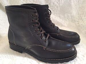ccc89af6ef6 Details about Mens Wolverine Moc Toe Boots Brown - Size 7.5 M