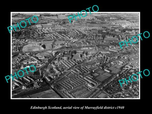 OLD 6x4 HISTORIC PHOTO EDINBURGH SCOTLAND AERIAL VIEW OF MURRAYFIELD c1940