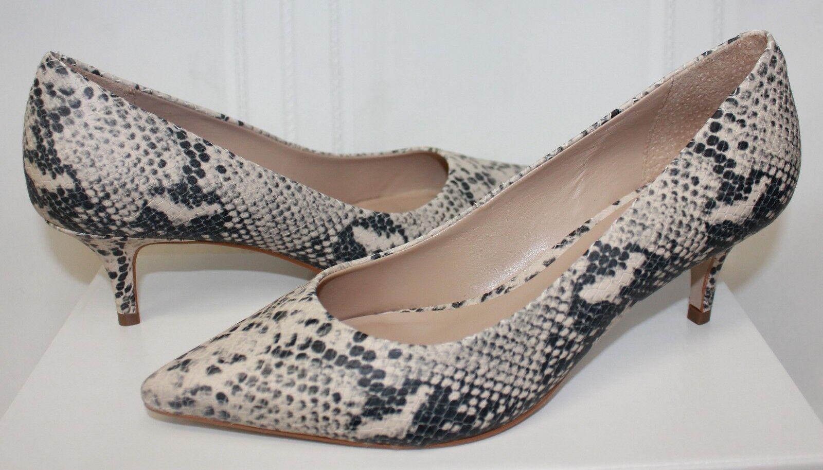 Steve Madden Sabrinah Kitten Heel Pump Snake Natural Leather New With Box
