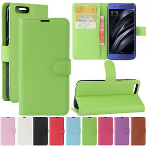 PU-Leather-Wallet-Flip-Case-Stand-Pouch-Folio-Cover-For-Xiaomi-Mi-5C-Redmi-4X-4A