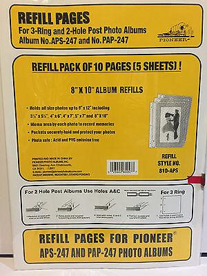 Pioneer Photo Album Refill Pack 810-APS 8