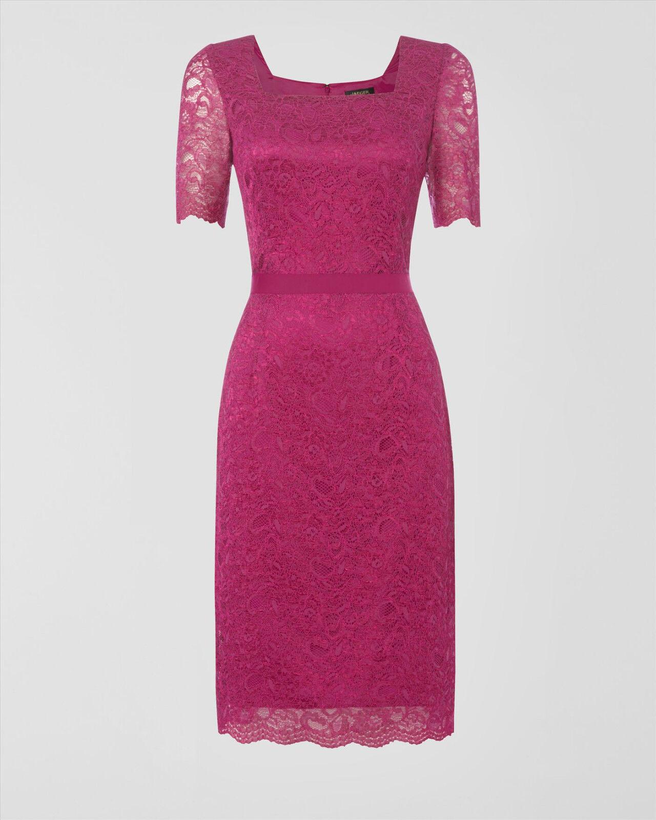 Jaeger Purple Lace Dress Size 14 RRP