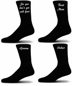 Black Cotton Rich Socks Brother of the Bride Wedding Socks