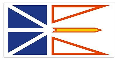 NEWFOUNDLAND Vinyl International Flag DECAL Sticker MADE IN THE USA F343