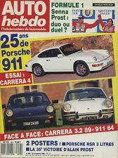 AUTO HEBDO n°652 du 23 Novembre 1988 PORSCHE CARRERA 4 & 911 1964