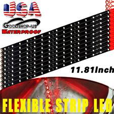 10x Red Car Truck Motorcycle LED Waterproof Flexible Strip Light 30cm /15 DC 12V
