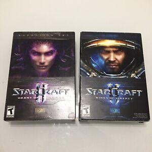 STARCRAFT II Wings Of Liberty & Heart Of The Swarm Lot Of 2 PC Computer Games