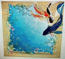 Johnny Was Signature Silk Koi Scarf Good Luck JWC1013  33 x 33 New Retail $98