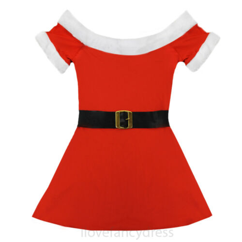 MISS SANTA COSTUME LADIES FATHER CHRISTMAS FANCY DRESS OPTIONAL ACCESSORIES