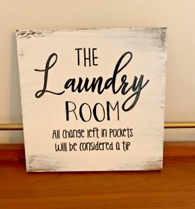 Rustic Wood Sign Laundry Room Decor Funny Restroom Farmhouse Home Decor Ebay
