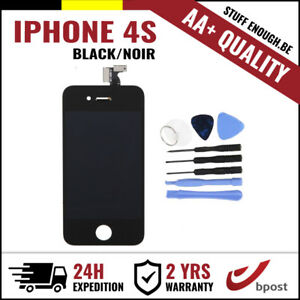 AA-LCD-TOUCH-SCREEN-VITRE-DISPLAY-SCHERM-ECRAN-BLACK-NOIR-amp-TOOLS-FOR-IPHONE-4S