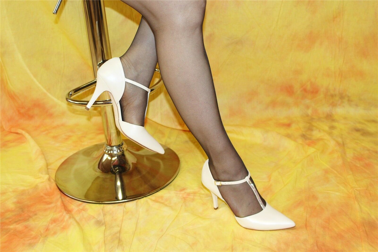 Novia de zapatos cuero genuino-spangenpumps madreperla Colors con Swarovski Elements Elements Elements  varios tamaños