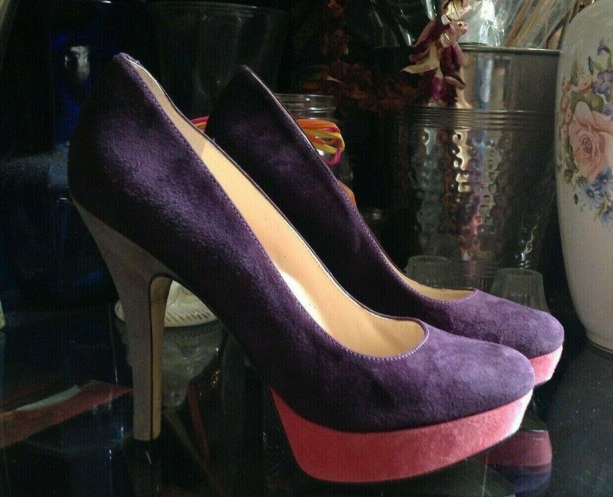 Enzo Angiolini Women's Platform Stilettos Size 8M Purple  Easmiles  Model