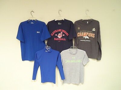 Lot 5 Nike & Under Armour Mens Shirt Size Small T Shirt Broncos Blue Compression | eBay
