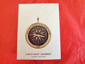 Hallmark-2019-Life-039-s-Next-Journey-Metal-Compass-Keepsake-Ornament
