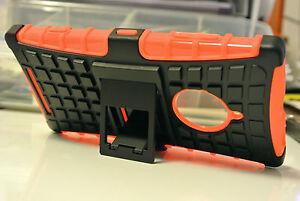 Orange-Strong-Tough-Durable-Tradesman-TPU-Case-Cover-Stand-for-Nokia-Lumia-830