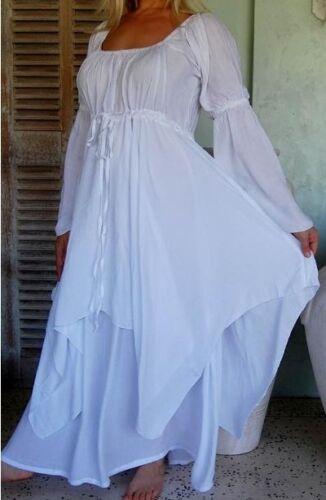 20 24 26 Dress 16 Boho alternativo Matrimonio 14 Chic White Gypsy 22 12 18 Peasant wAxSnqC4