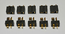 (5) Black Male / Female Pair Mini-T-Connector Plugs - 10+ Amps