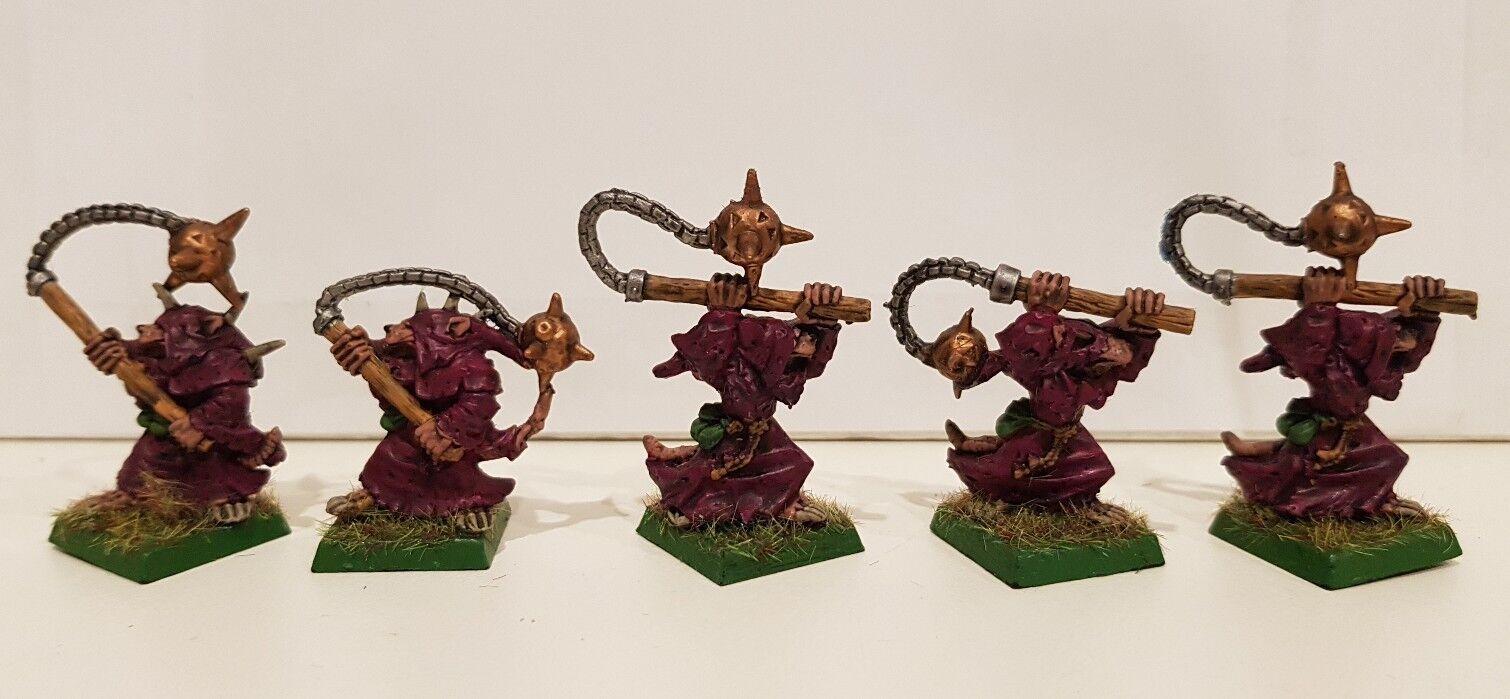 5 x SKAVEN Classic Plague Censer Bearer well painted metal models (C) OOP