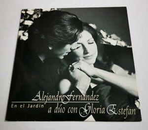 Details about ALEJANDRO FERNANDEZ & GLORIA ESTEFAN En el jardin RARE  SPANISH PROMO CD SINGLE