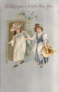 New-Year-Elizabethan-Boy-Girl-Purple-White-Dress-Flowers-Silver-Back-Winsch-1909