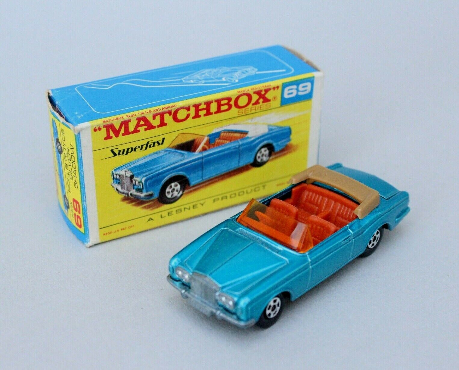 MatchBox Lesney Superfast MB 69 Rolls Royce Silber Shadow - Solid NW