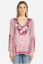 NWT-Embroidered-JOHNNY-WAS-Blouse-WISH-STITCH-V-Neck-Tunic-Cupra-XS-278 thumbnail 4