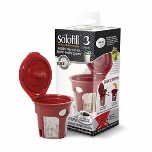 2-units-of-Solofill-K3-Chrome-Refillable-Filter-Cup-for-Keurig-R-1st-Generation
