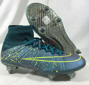 Details about New Nike Mercurial Superfly SG Pro Sz 7 Mens Soccer 40 (8 5  WMNS) Metal Cleats