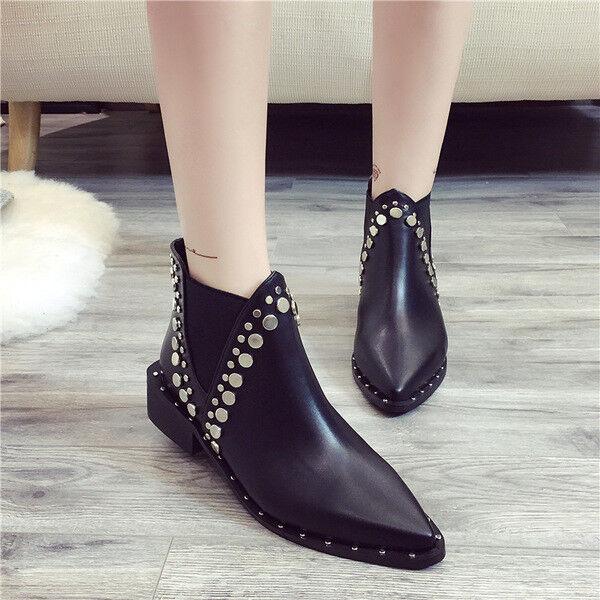 botas bajo zapatos botas militares 5 cm negro elegantes como piel 9652