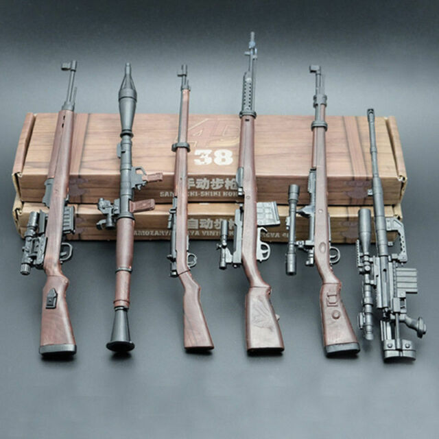 6pcs//set 1//6 Scale Battle GUN WWII Weapon Model G43 SVT RPG M200 KAR98K 38Rifle